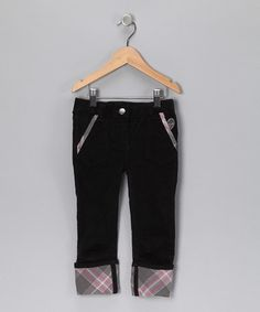 Inspiration Anthracite Cuffed Corduroy Pants - by caprice de star