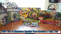 TMNT Out of Shadows Spoiler Free Review & Toys, Too  I saw the new Teenage Mutant Ninja Turtles movie today and this is my spoiler free review of that movie. Out of the Shadows was a major improvement over the movie from a couple years ago. Even the new character designs have grown on me.  I received a bunch of new TMNT: Out of the Shadows toys to show you and I unbox all of them in this video so it is rather long. I also got 4 blind bag toys in my box of TMNT toys.