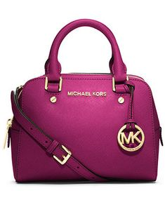 Fuschia Michael Kors Jet Set Small Travel Satchel - Macy's