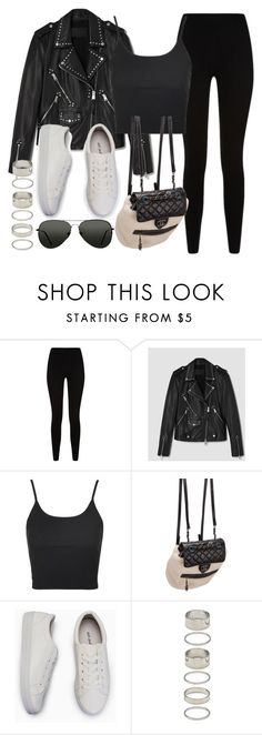"""""""Style #11415"""" by vany-alvarado ❤ liked on Polyvore featuring Givenchy, AllSaints, Topshop, Chanel and Forever 21"""