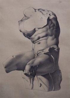Diaz alama /  bargue  torso de belvedere