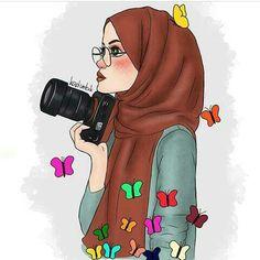Illustrations and posters on share sunday 1 Hijabi Girl, Girl Hijab, Muslim Girls, Muslim Women, Fashion Sketchbook, Fashion Sketches, Cartoon Sketches, Cartoon Art, Clique Art