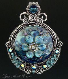 Diamond in the Sky Lampwork Bead Pendant