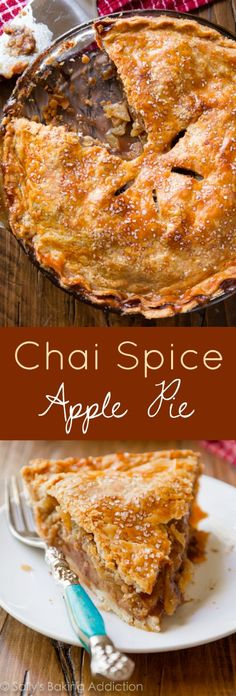 Spiced chai flavors really turn my homemade apple pie recipe up a notch. This is one of the best apple pies I've ever made!