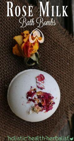 Rose Milk Bath Bombs - Enjoy a romantic bath using these luxuriant rose infused milky bath bombs.