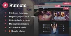 Rumors - Multipurpose HTML5 Responsive Template
