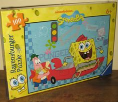 Spongebob Squarepants on Vacation! Ravensburger Jigsaw Puzzle with 100 Pieces.