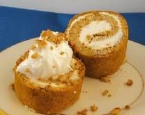 GF Low Carb Pumpkin Roll w/ Cream Cheese Filling! I <3 pumpkin.Each serving has 2.5 grams effective carbohydrate plus 1.5 grams fiber (4 grams total carbohydrate), 5 grams protein, and 151 calories.