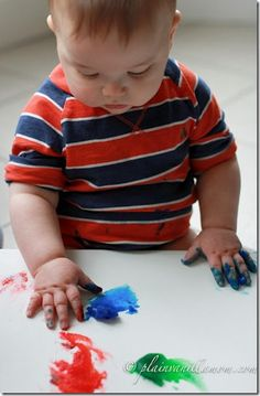 Edible Finger Paint...Baby-Friendly