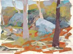 Trees and Boulders, 1997, by Mariella Bisson. (10th Annual BAM Art Auction)