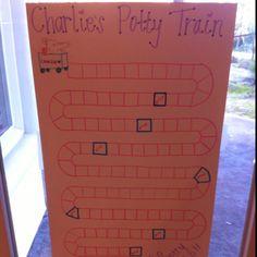 Yay for finishing a new potty training chart!
