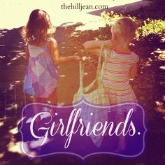 There is something really special about girlfriends. #childhoodfriends #friendship #littlegirls
