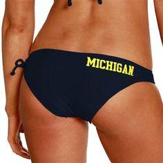 Michigan Wolverines Ladies Navy Blue Spring Breaker Bikini Bottom