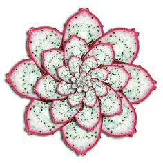"""20 Exquisite Pieces Of Fruit Art"" -- well worth the click-through!  Shown: Flower made with dragon fruit."