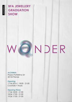 WONDER/WANDER  with jewellery by Anna Okamoto Gayton, Dana AL-Nafisi, Diana Pantea, Lena Kosztyucsenko, Sehnaz Erdal  Opening: Friday June 17, from 6.30 pm  Alchimia, Piazza Piattellina 3r, Firenze  - - X
