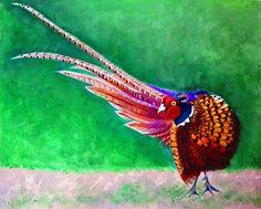 Art print from original painting pheasant by ByGaddArtandDesign