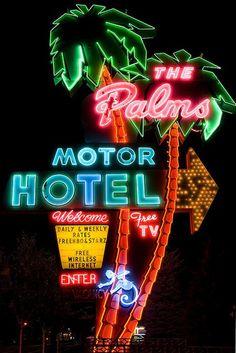 vintage motel signs_my blue flamingo