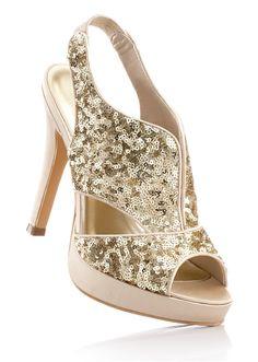gold glitter high #heels #bonprix