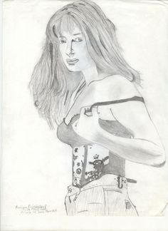 Dibujo a lápíz, de la actríz Joana Benedek. por MRR.