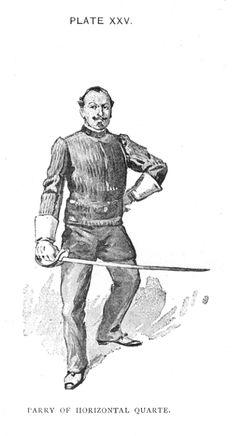 Hutton - Saber Parry in Horizontal Quarte