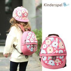 Kinderspel Kids Toddler Bubble Backpack Bag Confetti Flower Style Made In Korea  #KinderspelKorea