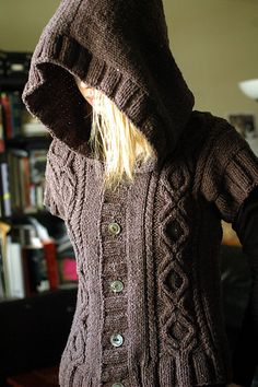 Ravelry: Project Gallery for Heather Hoodie Vest pattern by Debbie O'Neill