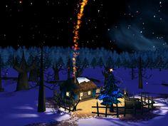 Christmas | Christmas Night 3D Screensaver Screenshots