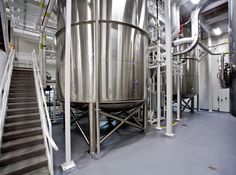 Stonhard seamless floors in a pharmaceutical processing facility