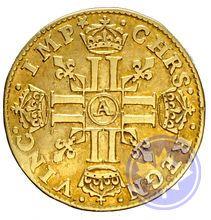 Monnaie royale française 1642a 1/2 louis d'or meche longue prttb