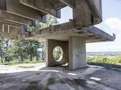 A Collection of Striking Soviet Bus Stop Designs / Pitsunda, Abkhazia. Image Courtesy of herwigphoto.com #socialist #brutalism #architecture