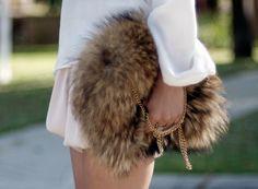 DIY Fur Purse  