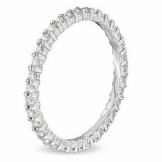 1/2 CT. T.W. Diamond Eternity Wedding Band in 14K White Gold | Round | Wedding | Gordon's Jewelers