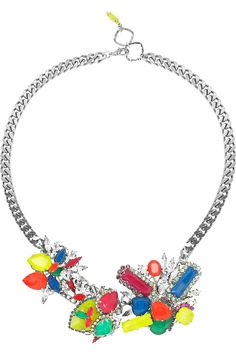 ERICKSON BEAMON  Colour Me Crazy silver-plated Swarovski crystal necklace