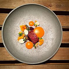 Duck breast, pumpkin, and wild mushrooms by @kkousted #TheArtOfPlating