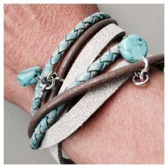 Wikkelarmband turquoise
