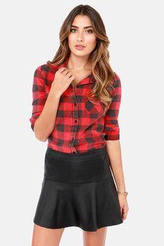 #Lulus                    #Skirt                    #Darling #Detail #Black #Vegan #Leather #Skirt      Darling in Detail Black Vegan Leather Skirt                                   http://www.seapai.com/product.aspx?PID=1732266