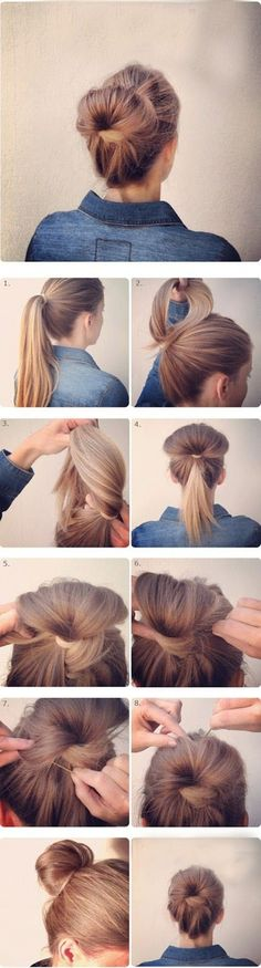 So Sexy and Easy Bun Hairstyle Tutorials For you (24)