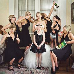 Bridal Party Photos - Bridesmaids Pictures | Wedding Planning, Ideas &... via Polyvore