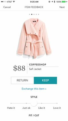 Pretty color & great shape...love the belted jacket