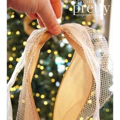Christmas decorating tip: how to add ribbon to your tree.   A Pop of Pretty Blog (Canadian Home Decorating Blog - St. John's, Canada)