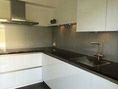 Ral 9006 metallic keuken achterwand