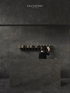 Find out all of the information about the Salvatori product: indoor tile / outdoor / wall / floor PIETRA D'AVOLA : RAW. Lobby Interior, Interior Walls, Modern Interior, Interior Architecture, Interior Design, Stone Interior, Coffee Shop Design, Cafe Design, Store Design