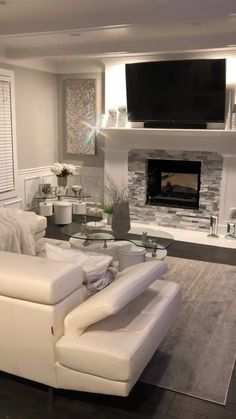 Catchy Farmhouse Living Room Design Ideas For Apartment - living Design Living Room, Living Room Decor Cozy, Living Room Color Schemes, Living Room With Fireplace, Living Room Grey, Living Room Interior, Colour Schemes, Cream Carpet Living Room, L Shaped Living Room Layout