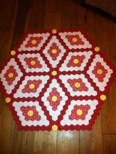 Hexagon quilt, still working on this one.