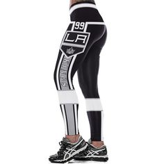 bfee4ca32099a Women Leggings Los Angeles Kings 99 Sport Print Running Active Sportswear  High Waist Pant Sexy Slim Hip Fitness Jogger Gym
