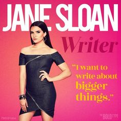"""282 Likes, 3 Comments - The Bold Type (@theboldtypetv) on Instagram: """"Meet Jane. You'll be reading and remembering her work soon. // #TheBoldType @thekatiestevens"""""""