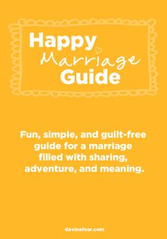 A fun, simple, and guilt-free guide for a marriage filled with sharing, adventure, and meaning.  [CLICK on the picture above.]