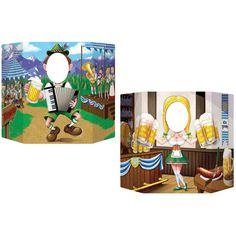Great addition to your next Oktoberfest party! Your guests just look through the opening and get their photo taken with a festive new look! Excellent party favor idea! Paperboard cutout is printed on