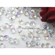 9 mm acrylic diamond confetti / table spread vase filler wholesale for wedding and events