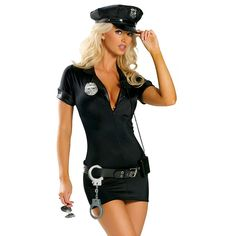 Amazon.com: Cuteshower Women's Sexy Police Uniform Cop Costume with Handcuffs: Clothing